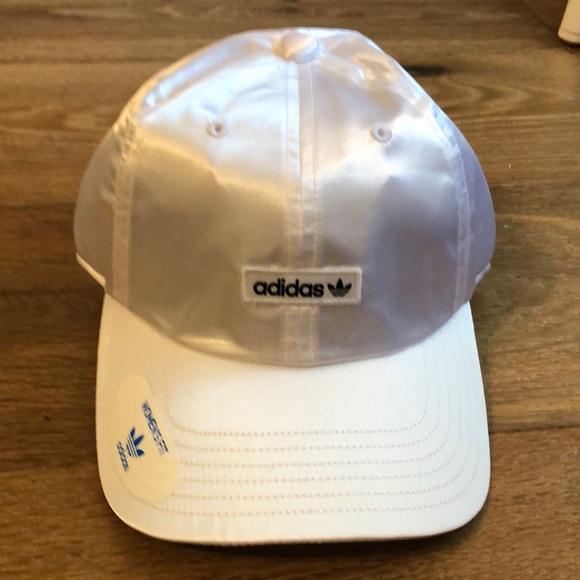 best website 0a083 52f28 adidas Originals Relaxed Metallic Strapback hat